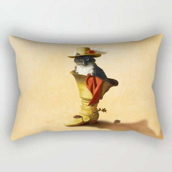 Little Puss in Boots Rectangular Pillow