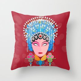 Beijing Concubine Throw Pillow