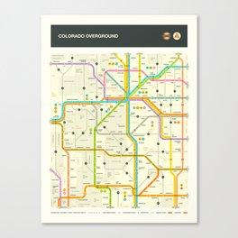 COLORADO HIGHWAY MAP Canvas Print
