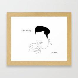 Elvis Presley, by Will Zurmann Framed Art Print