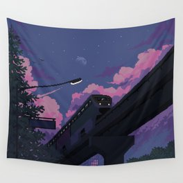 Moonrise twilight Wall Tapestry