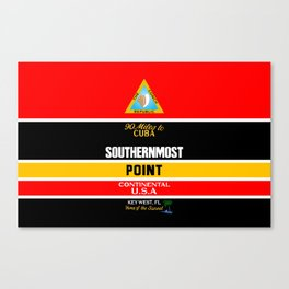 Southern Most Point, Key West, Florida/サザン・モスト・ポイント Canvas Print