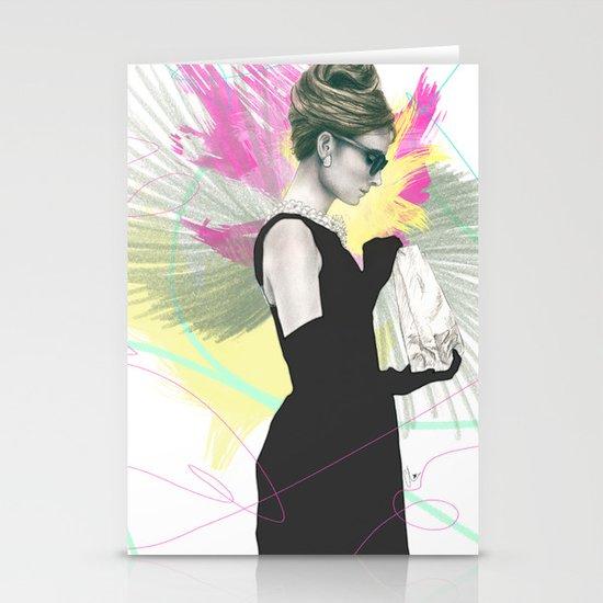 Breakfast at Tiffany's Fashion Illustration Stationery Cards