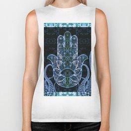Hamsa Octopus Love and Welcome Boho Print Biker Tank