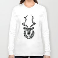 antlers Long Sleeve T-shirts featuring ANTLERS by SpaceCrafts