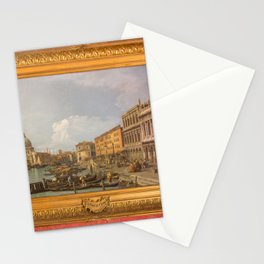 Canaletto - The Grand Canal, Piazzetta and Dogana, Venice Stationery Cards