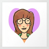 daria Art Prints featuring Daria by Nicole Calabro