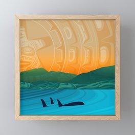 Fairview Bay, Bear & Orca Salish Coast. Framed Mini Art Print