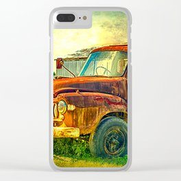 Old Rusty Bedford Truck Clear iPhone Case