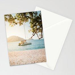 Fitzroy Island Catamaran   Cairns Australia Tropical Beach Sunset Photography Stationery Cards