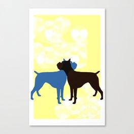 Retro Boxer Canvas Print