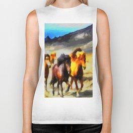 Wild horses Biker Tank