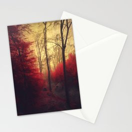 Ruby Red Forest Stationery Cards
