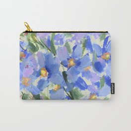 Blue Poppy Field Carry-All Pouch