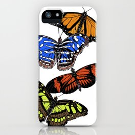 A butterfly collection iPhone Case