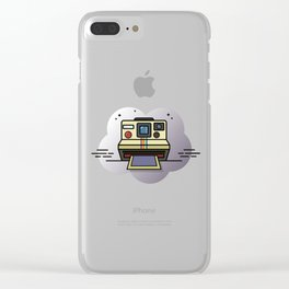 retro camera graphic Clear iPhone Case