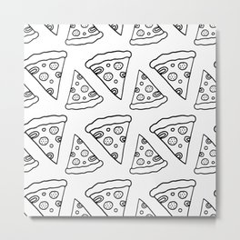 Ink Pizza Metal Print