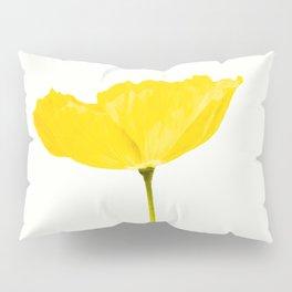 Yellow Poppy White Background #decor #society6 #buyart Pillow Sham