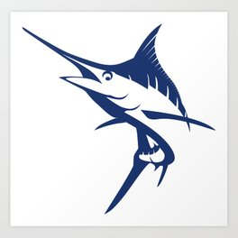 Graphic Blue Marlin Art Print