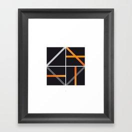 minimal arancio Framed Art Print