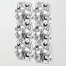 Scribble Doodle Flowers No.2A by Kathy Morton Stanion Wallpaper