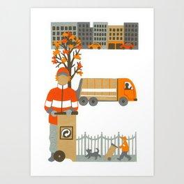E as Eboueur (Dustman) Art Print