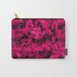 Retro Abstract Magenta Rose Posie Pink Carry-All Pouch