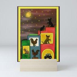 """Moonlight & Silhouettes (i)"" by ICA PAVON Mini Art Print"