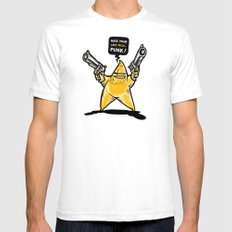 Shooting Star Mens Fitted Tee White SMALL