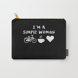 Simple Woman Funny Cycling Gifts Cycling Novelty Gifts Carry-All Pouch