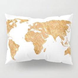 Gold World Pillow Sham