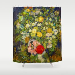 Bouquet of Flowers in a Vase Vincent van Gogh Oil on canvas 1890 Shower Curtain
