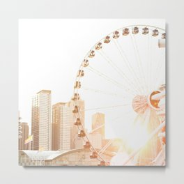Chicago's Ferris Wheel Metal Print