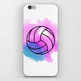 Volleyball Watercolor iPhone Skin