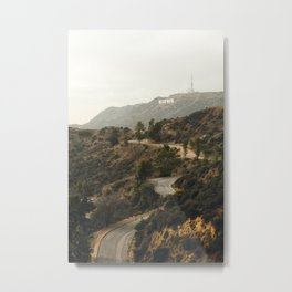 Hollywood Hills Los Angeles Metal Print