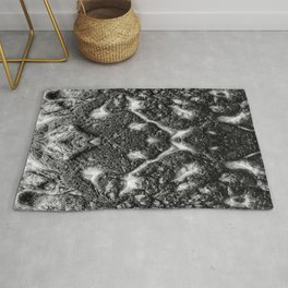 Mamba  Chief - Black and White Abstract Artwork Rug