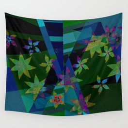 Floral patchwork Wall Tapestry