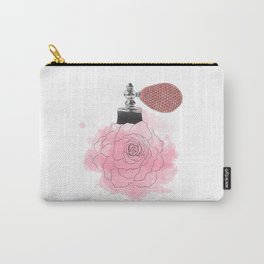 Silver pink rose perfume Carry-All Pouch