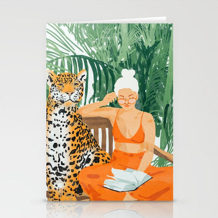 Jungle Vacay #painting #illustration Stationery Cards
