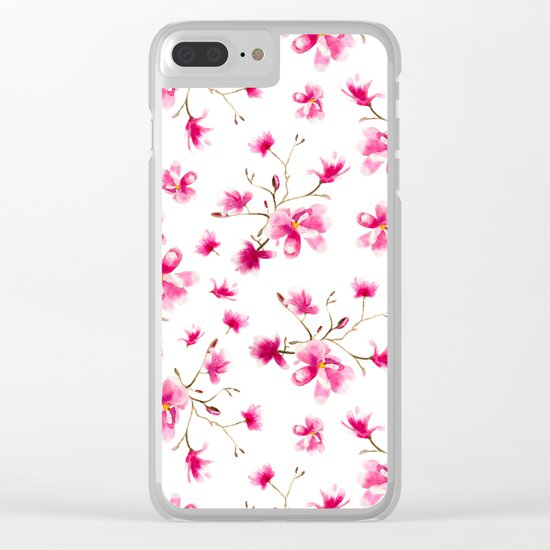 Magnolia blossom Clear iPhone Case