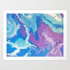 Lavender Blue Art Print