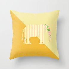 Orange Elephant Throw Pillow