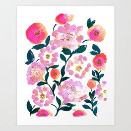Pretty Pink Flora Art Print