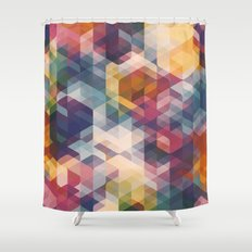 Cuben Curved #8 Shower Curtain