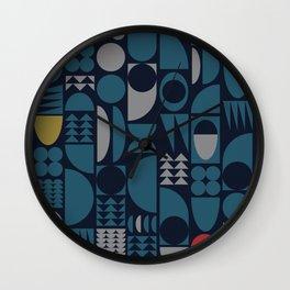 Midcentury Geometry Wall Clock