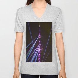 Pearl Tower Shanghai Unisex V-Neck