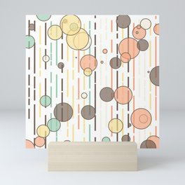 Circles and lines Mini Art Print