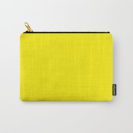 Yellow Flat Color Carry-All Pouch