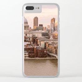 ArtWork St Paul London UK Sunset Orange Clear iPhone Case