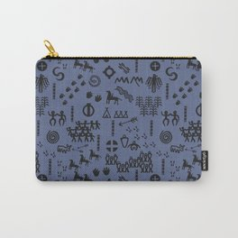Peoples Story - Black on Blue Carry-All Pouch